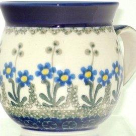 Ceramika Artystyczna Bubble Cup Medium Poppies Blue