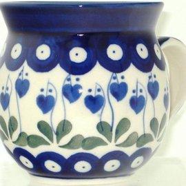 Ceramika Artystyczna Bubble Cup Medium Royal Hanging Hearts