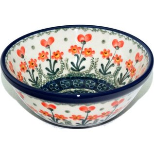 Ceramika Artystyczna Kitchen Bowl Size 1 Poppies Orange