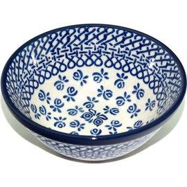 Ceramika Artystyczna Kitchen Bowl Size 2 Hidden Butterfly Blue