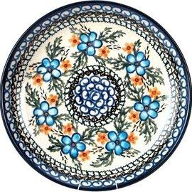 Ceramika Artystyczna Dinner Plate Apple Blossom Blue