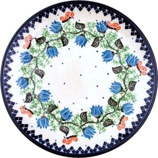 Ceramika Artystyczna Dinner Plate Butterfly Pink