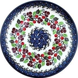 Ceramika Artystyczna Dinner Plate Cranberry Vine