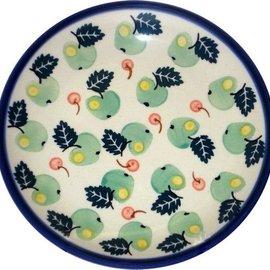 Ceramika Artystyczna Dinner Plate Green Apples