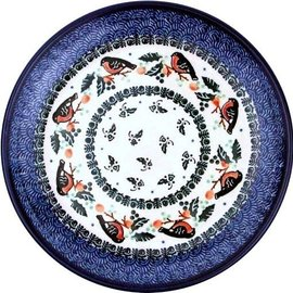 Ceramika Artystyczna Dinner Plate Holiday Robin