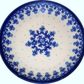 Ceramika Artystyczna Dinner Plate Lacework Blue