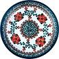 Ceramika Artystyczna Dinner Plate Rose Tangerine