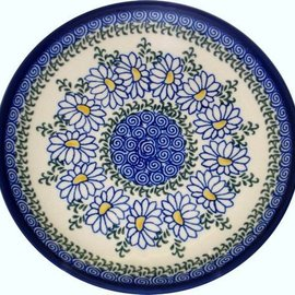 Ceramika Artystyczna Dinner Plate Silver Daisy