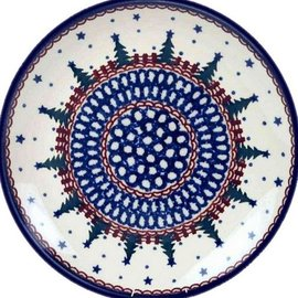 Ceramika Artystyczna Dinner Plate Starry Night Green