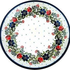 Ceramika Artystyczna Dinner Plate Vintage Floral