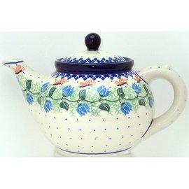 Ceramika Artystyczna Teapot Size 3 Butterfly Pink