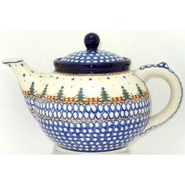 Ceramika Artystyczna Teapot Size 3 Starry Night Green