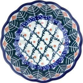 Ceramika Artystyczna Scalloped Bowl Size 1 Autumn Spruce