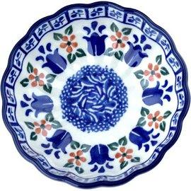 Ceramika Artystyczna Scalloped Bowl Size 1 Dutch Tulips