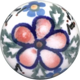 Ceramika Artystyczna Drawer Pull Apple Blossom Pink
