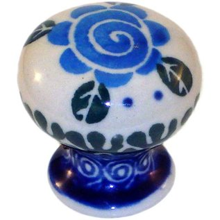 Ceramika Artystyczna Drawer Pull Lady Godiva Blue