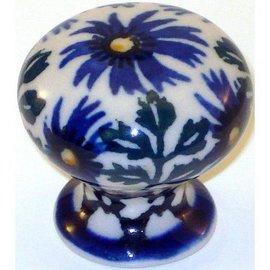 Ceramika Artystyczna Drawer Pull Periwinkle