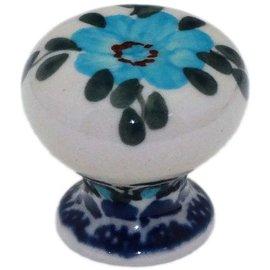 Ceramika Artystyczna Drawer Pull Rose Turquoise