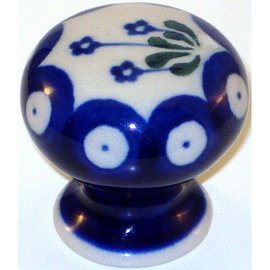 Ceramika Artystyczna Drawer Pull Royal Forget Me Not