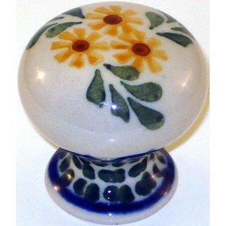 Ceramika Artystyczna Drawer Pull Triple Daisy