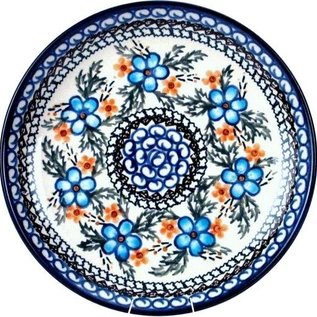 Ceramika Artystyczna Luncheon Plate Apple Blossom Blue