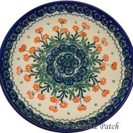 Ceramika Artystyczna Luncheon Plate Poppies Orange