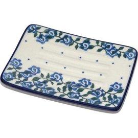 Ceramika Artystyczna Rectangular Soap Dish Antique Rose II