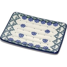 Ceramika Artystyczna Rectangular Soap Dish Blackberry Vineyard