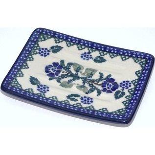 Ceramika Artystyczna Rectangular Soap Dish Rosie's Garden