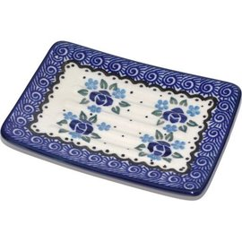 Ceramika Artystyczna Rectangular Soap Dish Sweetheart Rose