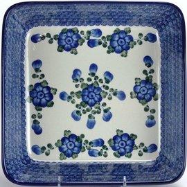 Ceramika Artystyczna Square Baker Size 2 Blue Rose