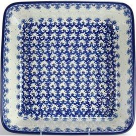 Ceramika Artystyczna Square Baker Size 2 Lacework Blue