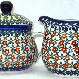Ceramika Artystyczna Cream & Sugar Set Ivy League