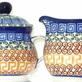 Ceramika Artystyczna Cream & Sugar Set Autumn