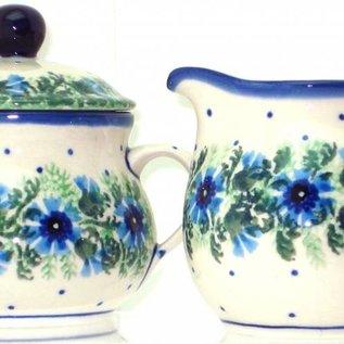 Ceramika Artystyczna Cream & Sugar Set Carnation