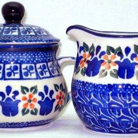 Ceramika Artystyczna Cream & Sugar Set Dutch Tulips