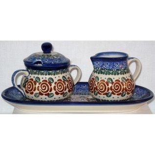 Ceramika Artystyczna Cream & Sugar Set Lady Godiva Auburn