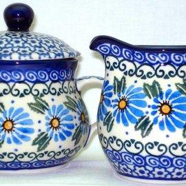 Ceramika Artystyczna Cream & Sugar Set Prairie Daisies