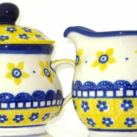 Ceramika Artystyczna Cream & Sugar Set Soho Garden