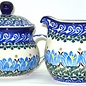 Ceramika Artystyczna Cream & Sugar Set Waterlilies