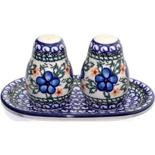 Ceramika Artystyczna Salt & Pepper Set Apple Blossom Blue