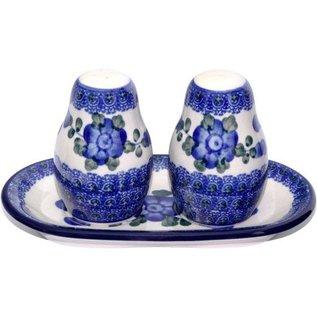 Ceramika Artystyczna Salt & Pepper Set Blue Rose