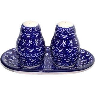 Ceramika Artystyczna Salt & Pepper Set Blue Silk