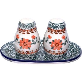 Ceramika Artystyczna Salt & Pepper Set Rose Tangerine