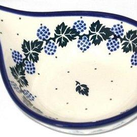 Ceramika Artystyczna Spoon Rest Size 2 Blackberry Ivy