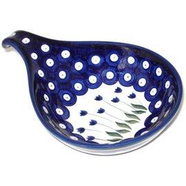 Ceramika Artystyczna Spoon Rest Size 2 Royal Tulips