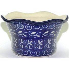 Ceramika Artystyczna Votive Holder Blue Silk