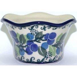 Ceramika Artystyczna Votive Holder Blueberry Vine