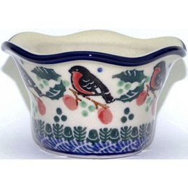 Ceramika Artystyczna Votive Holder Holiday Robin