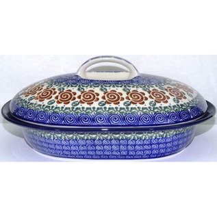 Ceramika Artystyczna Oval Covered Baker Size 2 Lady Godiva Auburn